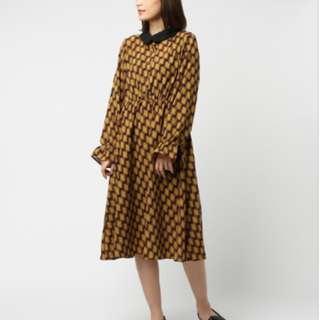 Dresseum 月下裙日本牌Par Avion同款花色洋裝  + 床邊故事羊毛寬褲L號 #我單身我驕傲