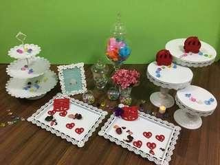 平租小朋友派對/百日宴/結婚婚禮reception/photo album/糖果閣佈置擺設/Wedding Candy Corner Decoration租借服務 (不包食物)