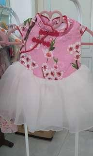 dress cheongsam qipao bayi baby 12m new import sisa stock