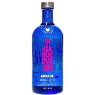 🚚 NEW and sealed Absolut vodka LOVE limited edition (pink edition)