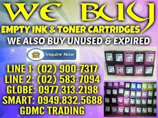 HIGHEST PRICE BUYER OF EMPTY INKAND TONER CARTRIDGES