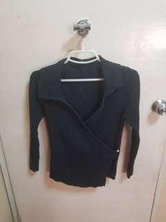 Bayo Black Long-sleeved Top