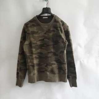 GU By Uniqlo Green Army Sweater Crewneck M