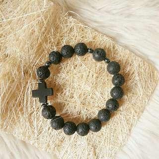 Rosary Bracelet Lava Stone