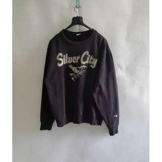 Champion SIlver City Navy Sweater Crewneck L