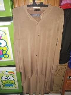 Mididress Brown
