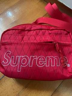 supreme bag 95%new red fw18