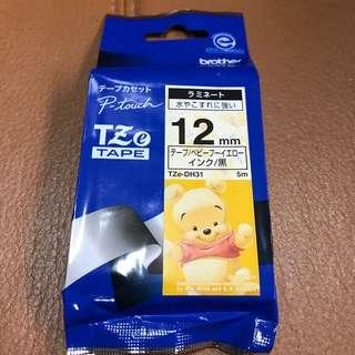 Brother p touch tz label tape Winnie the Pooh
