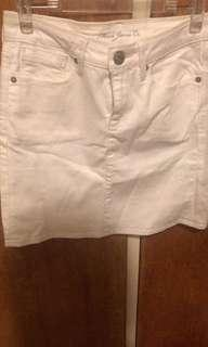 Mavi's denim white skirt size XS
