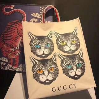 Gucci Cat Shopping Tote Bag (Preorder)