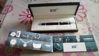 🚚 萬寶龍波西米亞黑色銀夾白水晶 尺寸12.5公分 原廠盒子 國際保證書