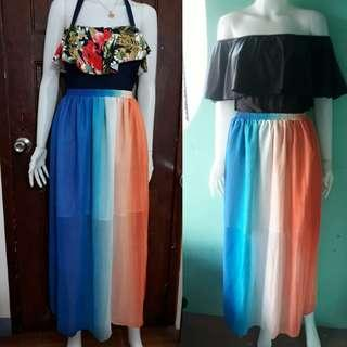 Ombre maxi skirt cover up