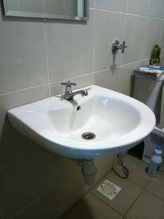 Bathroom Sink Docasa with New Faucet
