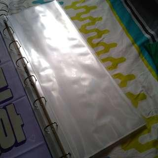 10 slogan file sleeves (60*20)