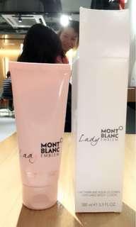 Mont Blanc Lady body lotion new 100ml