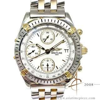 Breitling Chronomat B13048 18K Gold Steel Automatic Watch
