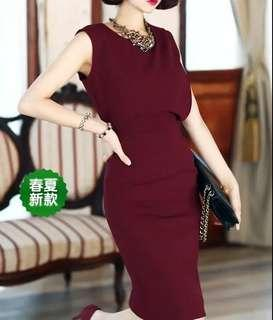 🚚 2015 new professional dress ol sexy temperament Korean version of the self-cultivation bag hip summer thin section Roman cotton women's clothing