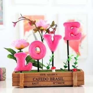 LOVE Flower Deco