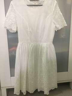 Love Bonito white baby doll dress