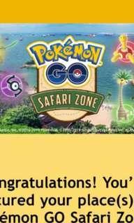 2 x Pokemon Go sentosa safari zone tix