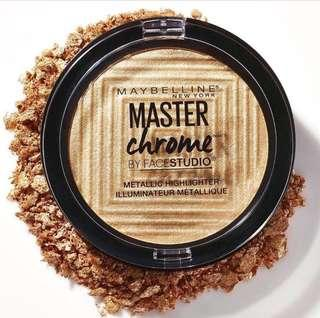 [NEW] MAYBELLINE MASTER CHROME By FaceStudio - Molten Gold
