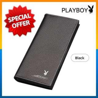 ⭐Zip Spoilt⭐PLAYBOY Men Long Wallet Leather with 11 card slots