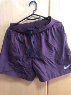 運動短褲nike running shorts 95%new nearly new