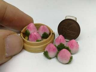 🚚 Dollhouse Miniature : shao tao with basket