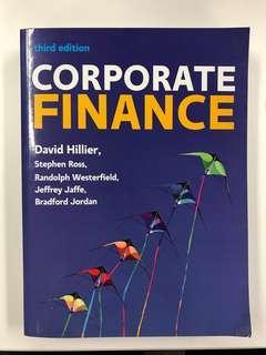 Corporate Finance (UK Higher Education Business Finance) Third Edition by David Hiller - Finance Textbook