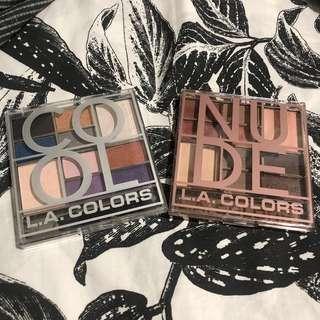 LA COLORS NUDE AND COOL PALETTE BUNDLE
