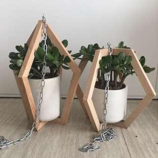 Wooden Hanging Planters