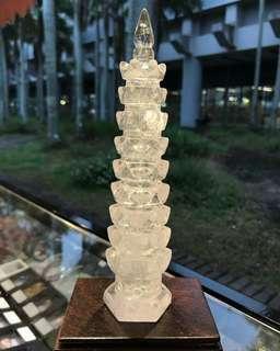 白水晶 文昌塔 風水 水晶