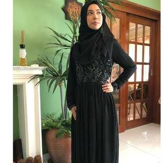 🚚 An elegant sequined embroidered dress Muslimah