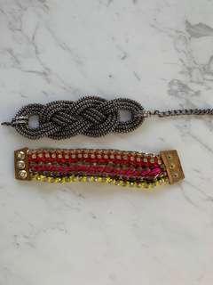 $80 2x Kookai bracelet cuff set