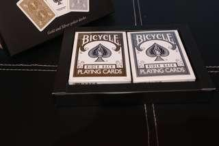Bicycle Gold and Silver Box Playing Cards