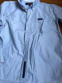 Sacoor brother's blue striped shirt