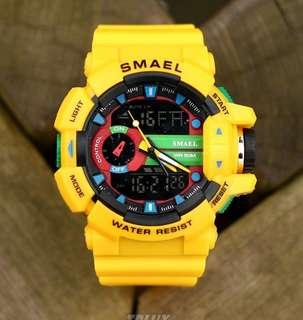 Smael Digital LED Water And Shock Resistant Japanese 🇯🇵 Quartz Movement Watch