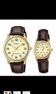 Casio Leather Watch for Couple