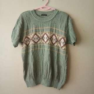 Dull Mint Knitted Top #MMAR18