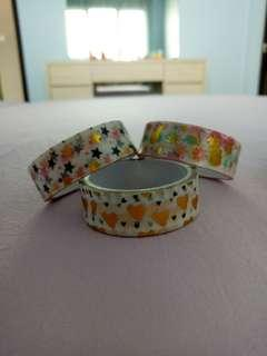 Washy tapes with designs