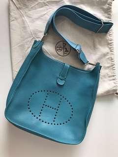 372777343d92 Hermes Evelyne GM Blue Jean