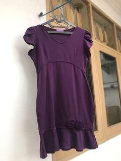 Mididress Wanita - Dress Ungu