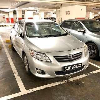 Car Rental - Toyota Altis 1.6A - $300/week