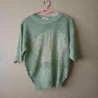 Mint Green Knitted Top #MMAR18