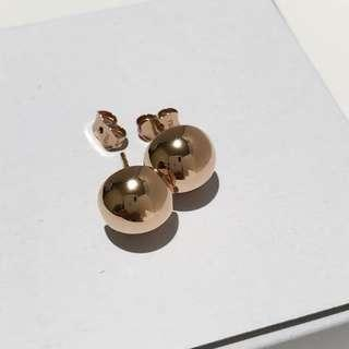 18k Rosegold Stud Earrings