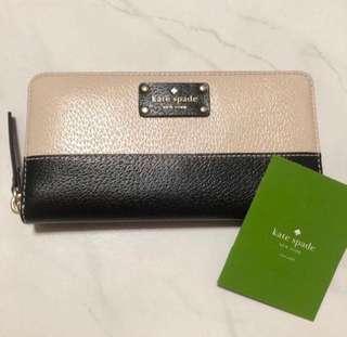 BN Kate Spade Neda Wellesle Long zip Wallet