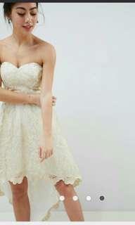 減價 婚後物資 姊妹裙 伴娘 香檳金 輕婚紗 註冊 外影 晚裝 pre wedding 前短後長