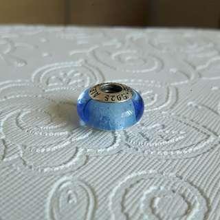 🚚 AUTHENTIC Pandora Disney Cinderella Signature Colour Blue Glass Murano Charm [Sterling Silver 925 ALE]