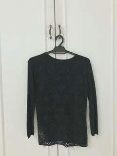 Mesh Black Top (Made in Turkey)