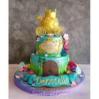 Enchanted garden 3d magical theme children girl customized cake #singaporecake